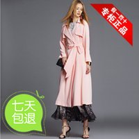 Cheap Language Club skirt 2015 spring new fashion style long-sleeved pink atmosphere full coat F-7132C