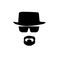 vinyl sticker - Heisenberg Vinyl Car Window Decal Breaking Bad Walt White Cook Sticker
