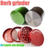 Wholesale SharpStone full metal herb grinder Sharp Stone parts mm herbal tobacco cnc teeth filter net dry herb vaporizer pen e cigarette