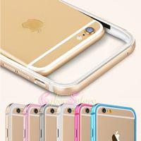 "For Apple iPhone   For iphone 6 6Plus TPU Metal Aluminum Flexible Bumper Frame Phone Case for iphone 6 Plus 4.7"" 5.5"""