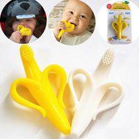 Wholesale Silicon Banana Bendable Baby Teether Training Toothbrush Safe Babies Toddler Infant Teething Ring Toothbrush M Kids toys G236