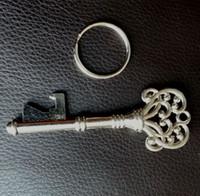 antique rings uk - SUCK UK Antique VTG Vintage Style Skeleton keyring Key Beer Bottle Opener Ring Wedding Favor Gift Party Gift FAST SHIPPING