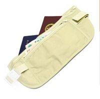 Wholesale 300pcs New Security Travel Ticket Waist Purse Pouch Money Coin Cards Passport Belt Bag By DHL