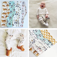 Wholesale kids Leggings Pants boys girls clothes baby clothing trousers harem Tights leggings toddler capris Panda brand Striped pants