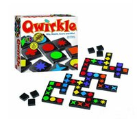 Wholesale 8set Qwirkle Board Game Adult Desktop Games Wooden toys buttoned chess puzzle game Button Strategy HX