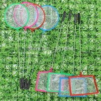 Wholesale 240pcs Aquarium Accessories Mix Colors Small Size Square Small Pore Fishing Net for Small Fish Shrimp and Insects New Fashion