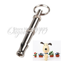 Wholesale New Adjustable Ultrasonic Supersonic Sound Metal Pet Dog Animal Training Contorl Whistle Keychain Key Ring Best
