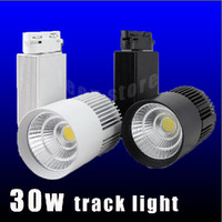 Wholesale LED track light W COB high lumens high quality for store shopping mall lighting lamp Color optional White black Shell led Spot light CSA