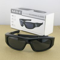 video sunglasses - MS4 P HD Vedio Spy Sunglasses GB Multi functional Sunglasses DVR With Hidden Camera Mini Audio Video Recorder Sunglasses Factory Supply