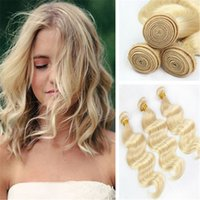 Cheap PREVAIL STYLE 8A #613 human hair extensions & blonde hair weave no bad smell no shedding in stock 3 bundles lot free shipping