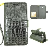 ace crocodiles - Wallet Leather Crocodile Pouch Case For Samsung Galaxy J1 Ace J2 Iphone Plus PLUS G Stand Snake Strap Photo Frame Credit Card Cover skin