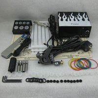 Wholesale Complete Beginner Tattoo Kit Set Tattoo Gun Power Supply Needle Grip Tip Combo Kit Set Supply TKS117