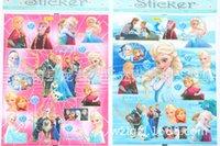 Wholesale ELSA anna sticker Kids Cute Cartoon Decoration Wall Stickers flat Stikers book sticker children gifts