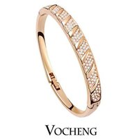 cubic zirconia stone - Bangle for Women Elegance Define with Cubic Zirconia Stones Inlay Silver Gold Vb Vocheng Jewelry