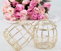 Wholesale 30Pcs Candy Boxes Gold Color Bird Cage Favor Holders Wedding And Party Gift Box New Style