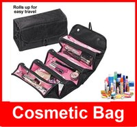 Wholesale New Roll N Go Lady s Travel Large Capacity Multi Functional Organizer Cosmetic Bags Jewelry Storage Make Up Bag