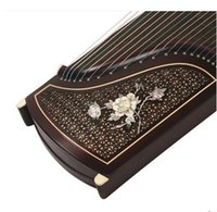 Wholesale New Black wood grilles shell carving ten professional playing Guzheng Sent samples zither accessories