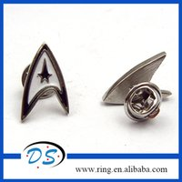Easter china star - Factory Star Trek Wars White Silver Shirt Pin Brooch Down Collar Tips