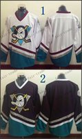 blank hockey jerseys - Anaheim Ducks Mighty Ducks Blank CCM Throwback Vintage Jersey Cheap ICE Hockey Jerseys Heritage Stitched Size