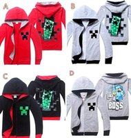 baby creepers - kid cartoon games baby boy outerwear coats kids minecraft creeper hoodie creeper game minecraft hooded zip jacket