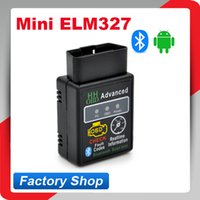 Wholesale HH OBD Mini ELM327 Bluetooth Factory price elm327 V2 OBD2 Diagnostic Scanner Work on Android Symbian Windows ELM