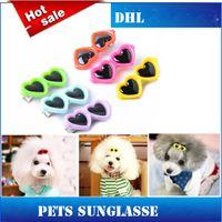 Wholesale 2015 Fashion Pets Sunglasses Glasses Hairpin Accessories Colors DHL