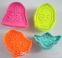 Wholesale Star Wars Cookie Stamp D Biscuit Mold Metal Plunger Cookie Cutters Movie Baking Bakeware Mould TY1665