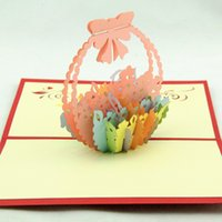 basket business - Qubiclife blessing baskets handmade three dimensional greeting cards business cards custom
