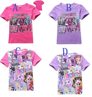 Wholesale Hot sale Children T Shirt Kids Monster High Clothes Fashion Summer Top Tees Girls Boys