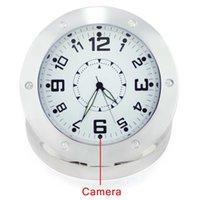 Wholesale 520 Circle Alarm Clock Camcorder Spy Hidden Camera Security Camera Motion Sensor Mini DVR Support Micro SD Card
