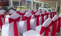 Wholesale New Cheap Wedding Chair Sashes Stain Bows DIY Pink Chair Covers All Kinds of Color Chair Bows Pieces