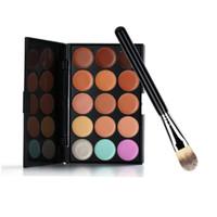 Wholesale Makeup Palette Women Colors Concealer Tone Base Makeup Skin Color Cover Foundation Contour Face Cream PC Brush CL00725