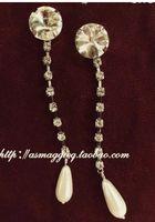 Wholesale white diamond long women s earings xcdxl