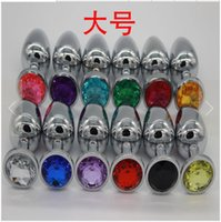 Wholesale Large stainless steel butt plug factory metal bolt after the court anal plug adult sex comrades supplies