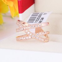 Wholesale R11520 Luxurious Crystal Colours zircon wedding Ring Zinc Alloy K Champagne Gold Rhodium Plated With Austria Crystal Fashion Women Jewelry