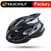 Wholesale Nuckily Black red protective moutain bike helmet cycling in mold helmet with nice quality racing helmet