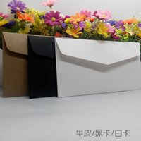 Wholesale 10pcs Exquisite Envelops gsm black Card white Card Kraft Paper Envelope For Business Thick Greeting Card