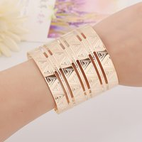 bangle clothing - Punk Style Cuff Bangles Gold Plated Geometry Hollow out triangle Figure Cuff Metals Bracelet Clothes Jewelry Costume Jewellery