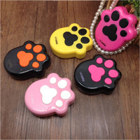 Wholesale Footprint Contact Lens Holder Fashion Contact Lens Companion Boxes Soaking Case with Mirror
