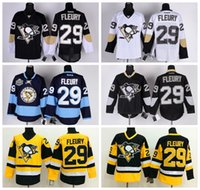 alternating light - Cheap Pittsburgh Penguins Hockey Jerseys Marc Andre Fleury Home Black Road White Alternate Navy Blue Third Light Blue NHL Ice Sportwear
