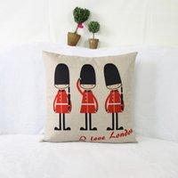 Escritório dos desenhos animados almofada do sofá almofada lombar Nordic IKEA lençóis de algodão britânica almofada capa de tecido travesseiro