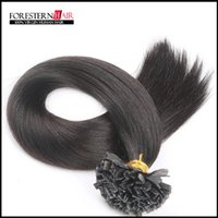 Brazilian Hair Black Straight High quality--6A brazilian virgin flat tip hair extensions Remy Human Hair 8''-28