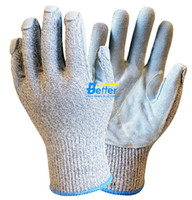 working gloves split leather - Glass Handing Glove Safety Glove Metal Process Glove HPPE Anti Cut Gloves guage HPPE Gloves Cow Split Leather Cut Resistant Work Glove