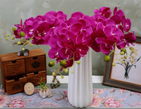 artificial orchid stems - Silk Single Stem Orchid cm quot Length Artificial Flowers Mini Phalaenopsis Butterfly Orchids Pink Cream Fuchsia Blue Green Color