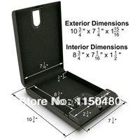 Cheap Free Shipping Portable Fingerprint Biometric mini gun safe box secure box biometric box security metal jewelry case