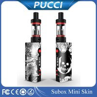 Wholesale Crazy style Sticker For Kanger Subox Mini Subox Mod Sticker Vape Box Wrap Subox Cool Skin Vaporizer Mod Sticker For Kanger Subox mini