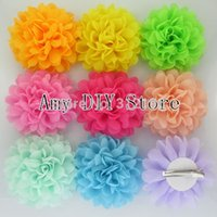 8-11 Years alternative baby clothes - Baby Girls Alternative Chiffon Hair Flowers WITH Clips For Shoes Clothing Hair DIY Garment Accessories