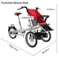 bicycle baby carriers - New Wheels Inch Pushchair inch Folding Mother Baby Stroller Bike Carrier Carrinho Pushchair Bicycle Baby Strollers in
