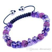 Wholesale Shamballa Crystal Bracelet SL04 Fashion Beaded Bracelets Newest Girls Bracelets Elegant Design Colors DHL