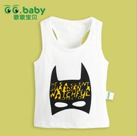 newborn vests - Hot sale summer toddler baby Tank Tops cartoon pattern printing newborn vest pure cotton loose casual infant clothing fit age ab1393